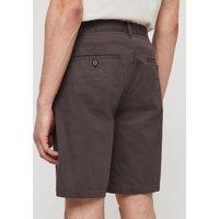 AllSaints Men's Cotton Lightweight Colbalt Chino Shorts, Grey, Size: 33