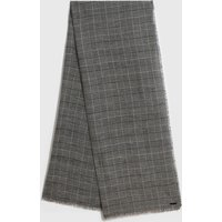 AllSaints Check Wool Woven Scarf