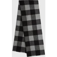 AllSaints Buffalo Check Wool Woven Scarf