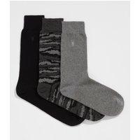 AllSaints Camo Ramskull 3 Pack Socks