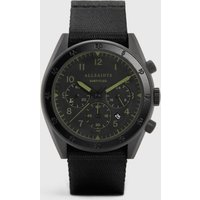 AllSaints Men's Stainless Steel Subtitled II and Black Nylon Watch