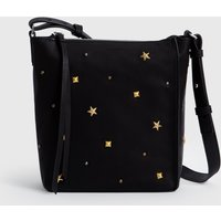 AllSaints Mazzy Zip Leather Crossbody Bag