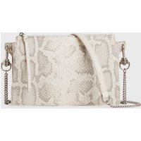 AllSaints Fletcher Snake Leather Crossbody Bag