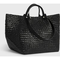 AllSaints Allington East West Straw Tote Bag