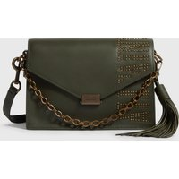 AllSaints Nina Stud Leather Crossbody Bag