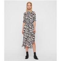 AllSaints Xena Long Zephyr Dress