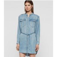 AllSaints Indigo Blue Lightweight Loe Dress, Size: M