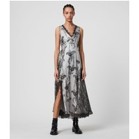 AllSaints Nysa Kashmir Silk Blend Dress