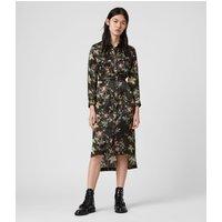 AllSaints Esther Silk Blend Evolution Dress