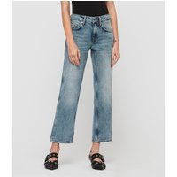 AllSaints Alana Boyfriend Low-Rise Jeans, Light Indigo Blue