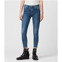 AllSaints Grace Body Shaping Skinny Mid-Rise Jeans, Fresh Blue
