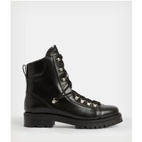 AllSaints Women's Leather Franka Boot, Black, Size: UK 4/US 6/EU 37