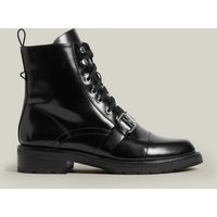 AllSaints Ladies Black Leather Classic Donita Boots, Size: UK 8/US 10/EU 41
