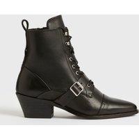 AllSaints Women's Leather Katy Boot, Black, Size: UK 7/US 9/EU 40