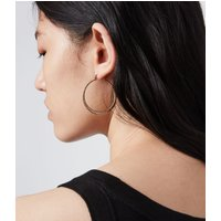 AllSaints Horn Gold-Tone Hoop Earrings