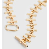 AllSaints Camila Gold Tone Semi-Precious Crystal Quartz Necklace