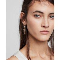 AllSaints Fern Gold Tone Semi-Precious Crystal Quartz Drop Earrings