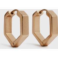 AllSaints Hexhoop Gold-Tone Earrings