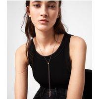 AllSaints Lariat Gold-Tone Necklace