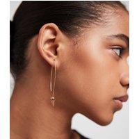AllSaints Brigitte Gold-Tone Drop Earrings