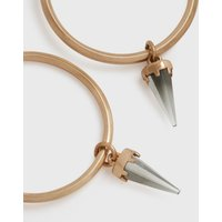 AllSaints Chantal Gold-Tone Smokey Quartz Hoop Earrings