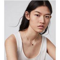 AllSaints Kimona Gold-Tone Smokey Quartz Necklace