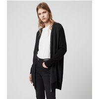 AllSaints Jamie Zip Merino Wool Cardigan
