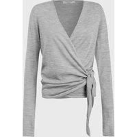 AllSaints Lonia Merino Wool Wrap Cardigan