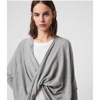 AllSaints Women's Cotton Lightweight Itat Shrug, Grey, Size: XS