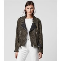 AllSaints Luna Leo Leather Biker Jacket
