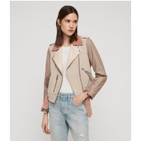 AllSaints Balfern Mix Leather Biker Jacket