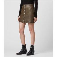 AllSaints Carson Leather Skirt