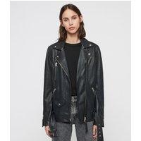 AllSaints Eline Oversized Leather Biker Jacket