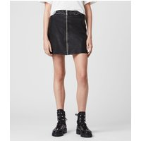 AllSaints Luna Studded Leather Skirt