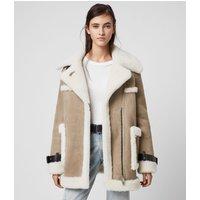 AllSaints Bronx Shearling Coat