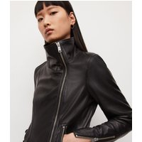 AllSaints Women's Leather Lamb Slim Fit Ellis Biker Jacket, Black, Size: 2