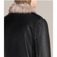AllSaints Velo Leather Biker Coat