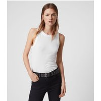 AllSaints Women's Lightweight Rina Tank, White, Size: L