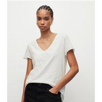AllSaints Women's Cotton Regular Fit Emelyn Tonic T-Shirt, White, Size: XS