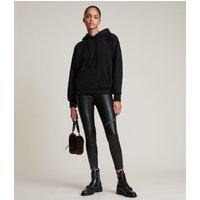 AllSaints Women's Cotton Talon Hoodie, Black, Size: S