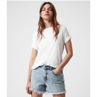 AllSaints Women's Cotton Lightweight Imogen Boy T-Shirt, White, Size: XS/S