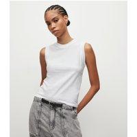 AllSaints Women's Cotton Lightweight Imogen Tank, White, Size: L