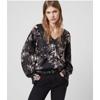 AllSaints Penny Silk Blend Evolution Top