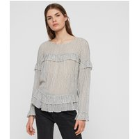 AllSaints Evia Embroidered Top
