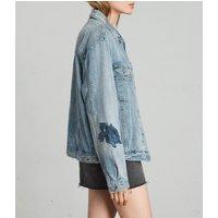 AllSaints Rose Oversize Denim Jacket