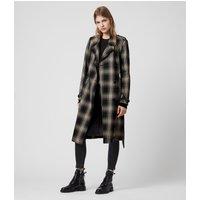 AllSaints Chiara Check Trench Coat