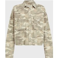 AllSaints Sol Camouflage Denim Shirt Jacket