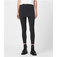 AllSaints Women's Cotton Essential Raffi Leggings, Black, Size: XS