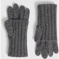AllSaints Solid Rib Wool Gloves