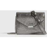 AllSaints Miki Lea Chain Leather Cardholder